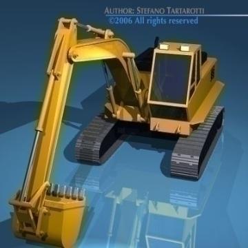 excavator v1 3d model 3ds dxf obj other 78302