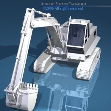 excavator v1 3d model 3ds dxf obj other 78303