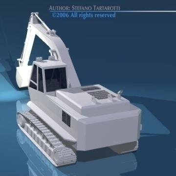 excavator v1 3d model 3ds dxf obj other 78304