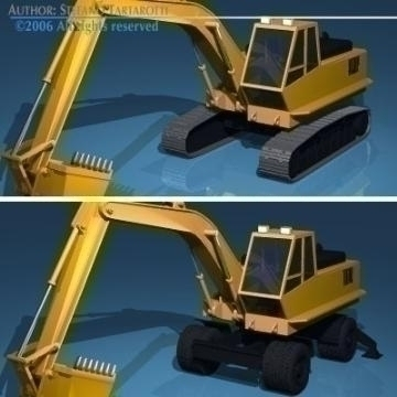 excavators 3d model 3ds dxf obj other 78317