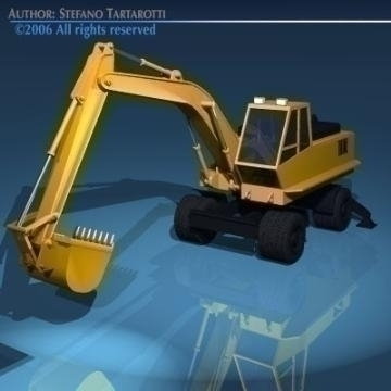excavators 3d model 3ds dxf obj other 78318