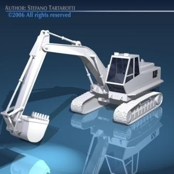 excavators 3d model 3ds dxf obj other 78322