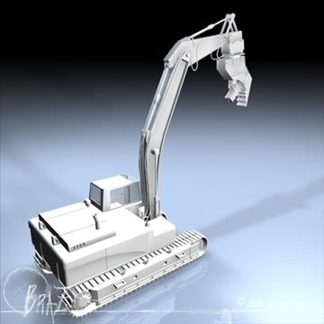 hydraulic excavators 3d model 3ds dxf c4d obj 88921