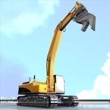hydraulic excavators 3d model 3ds dxf c4d obj 88923