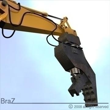hydraulic excavators 3d model 3ds dxf c4d obj 88924