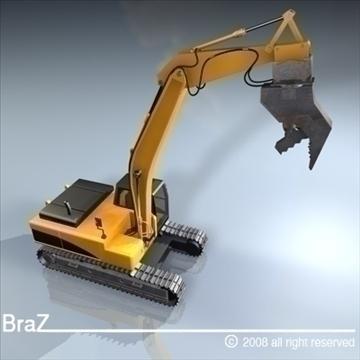 hydraulic excavators 3d model 3ds dxf c4d obj 88926