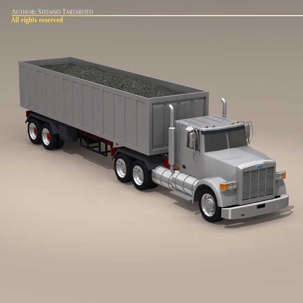 us construction truck 3d model 3ds dxf c4d obj 112918