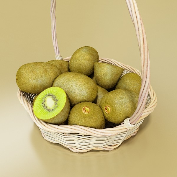 3D Model Kiwi Fruit in Basket ( 69.03KB jpg by VKModels )