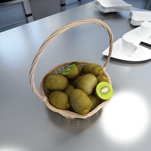 3D Model Kiwi Fruit in Basket ( 64.24KB jpg by VKModels )