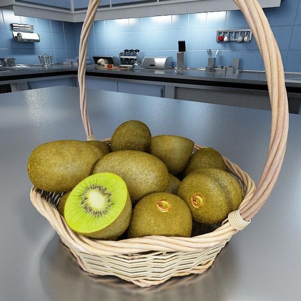 3D Model Kiwi Fruit in Basket ( 97.93KB jpg by VKModels )