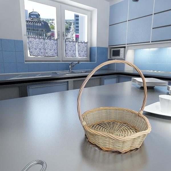 3D Model Kiwi Fruit in Basket ( 81.63KB jpg by VKModels )
