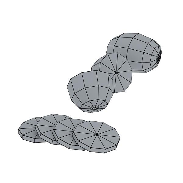 3D Model Kiwi Fruit in Basket ( 33.9KB jpg by VKModels )
