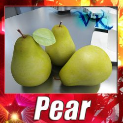 3D Model Pear High Resolution ( 121.43KB jpg by VKModels )