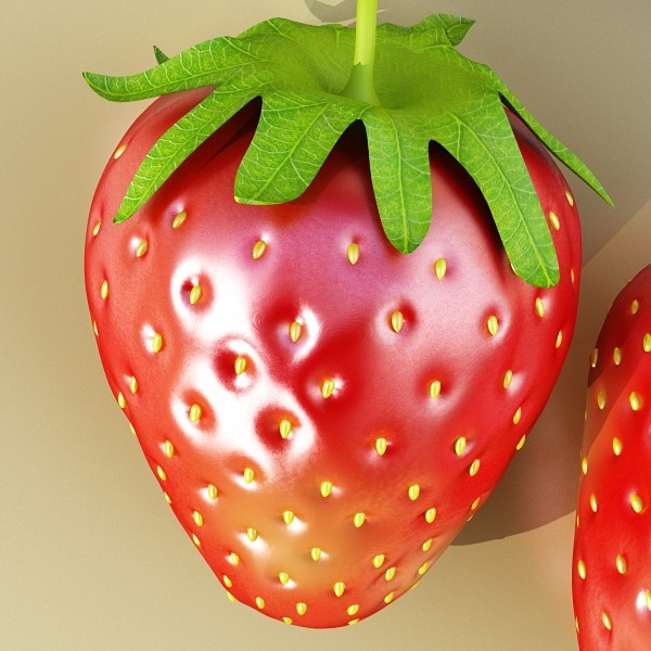 3D Model Photorealistic Strawberry High Res ( 82.67KB jpg by VKModels )
