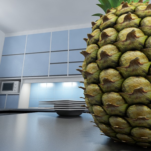 3D Model Pineapple High Detail ( 85.61KB jpg by VKModels )