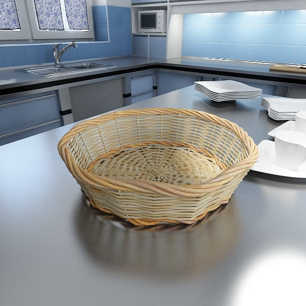 3D Model Pineapples in Wicker Basket 10 ( 83.28KB jpg by VKModels )