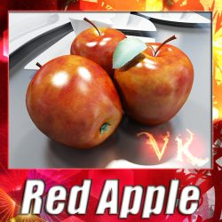 3D Model Red Apple High Detail ( 129.63KB jpg by VKModels )