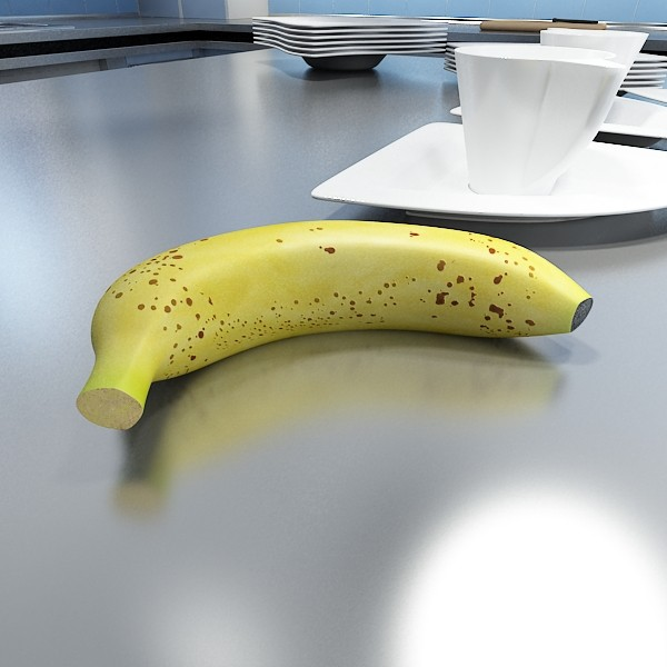 banana high detail 3d model 3ds max fbx obj 132918