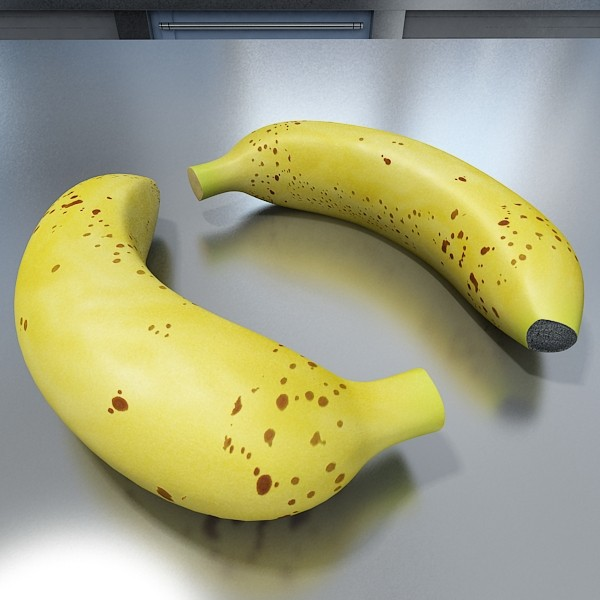 banana high detail 3d model 3ds max fbx obj 132919