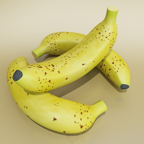 banana high detail 3d model 3ds max fbx obj 132920