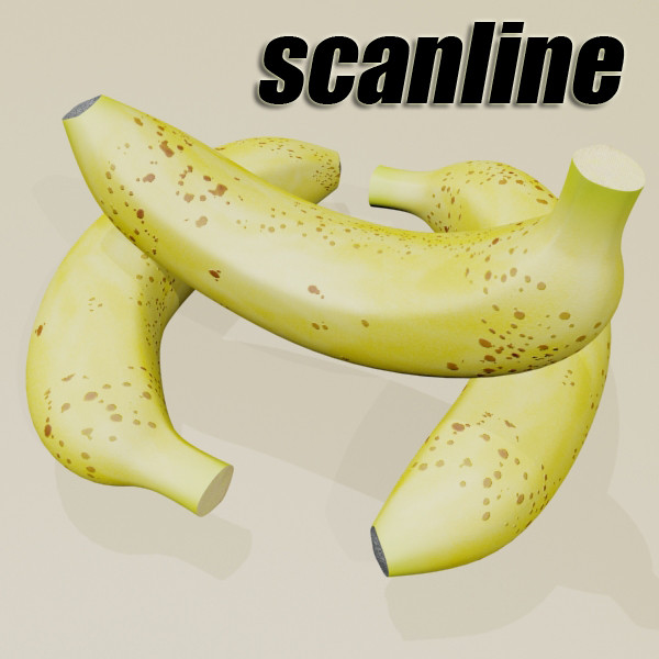 banana high detail 3d model 3ds max fbx obj 132922