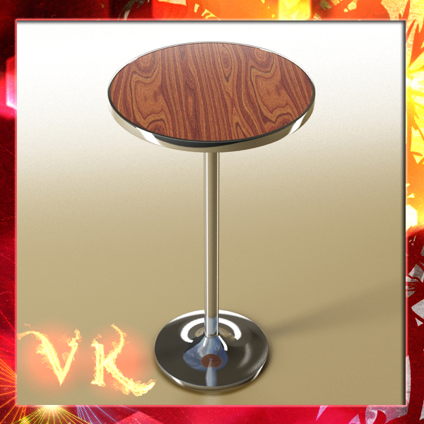 bar table 3d model 3ds max fbx obj 148174