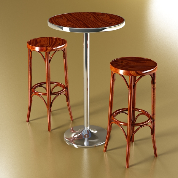 bar table and stool 3d model 3ds max fbx obj 148184