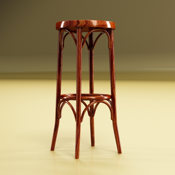 bar table and stool 3d model 3ds max fbx obj 148187