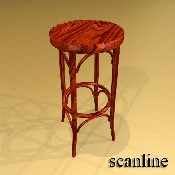 bar table and stool 3d model 3ds max fbx obj 148191