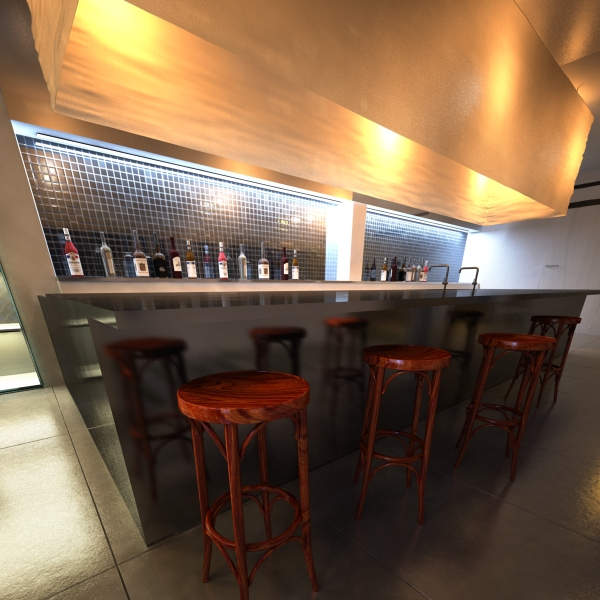 bar table and stool 3d model 3ds max fbx obj 148192