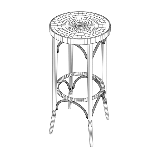 bar table and stool 3d model 3ds max fbx obj 148193