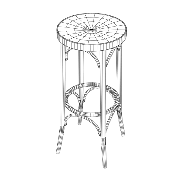 Bar Table and Stool ( 63.1KB jpg by VKModels )