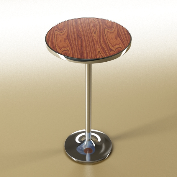 Bar Table and Stool ( 183.6KB jpg by VKModels )