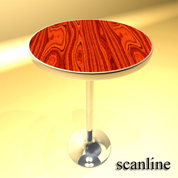 Bar Table and Stool ( 189.78KB jpg by VKModels )