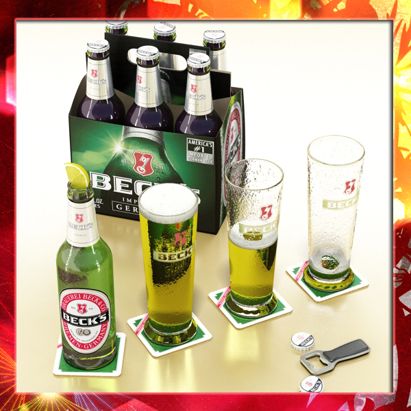 becks beer collection 3d model 3ds max fbx obj 142504