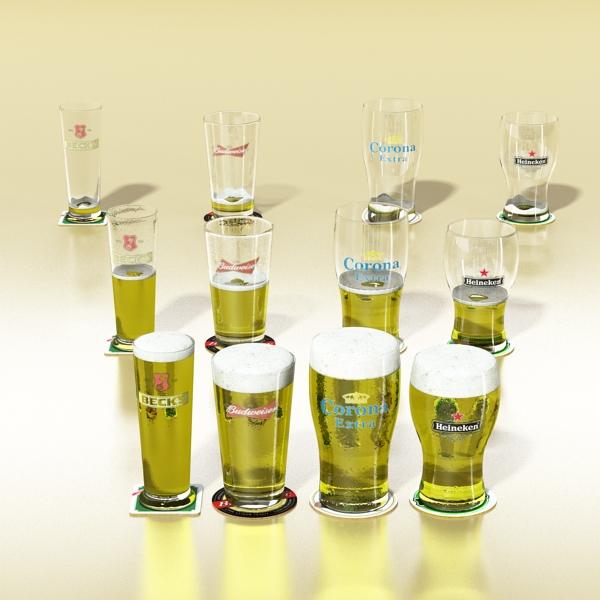 beer glass collection 3d model 3ds max fbx obj 142642