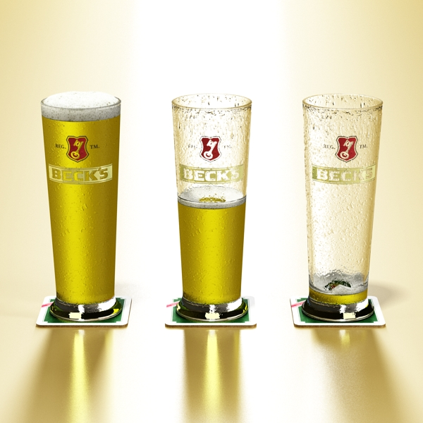 beer glass collection 3d model 3ds max fbx obj 142643