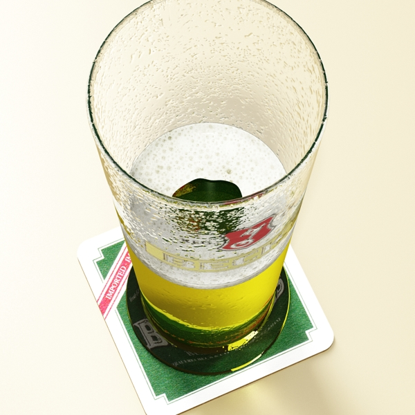beer glass collection 3d model 3ds max fbx obj 142646