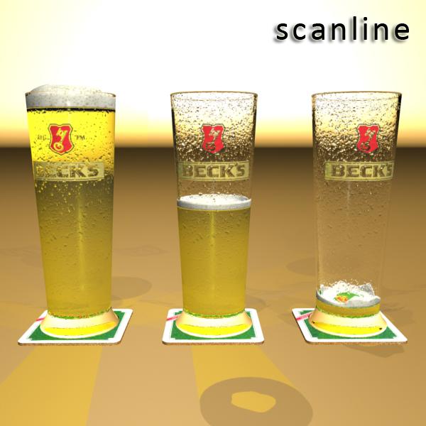 beer glass collection 3d model 3ds max fbx obj 142649