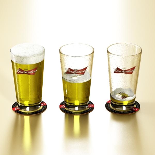 beer glass collection 3d model 3ds max fbx obj 142653