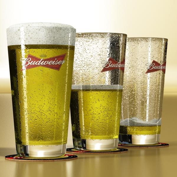 beer glass collection 3d model 3ds max fbx obj 142654