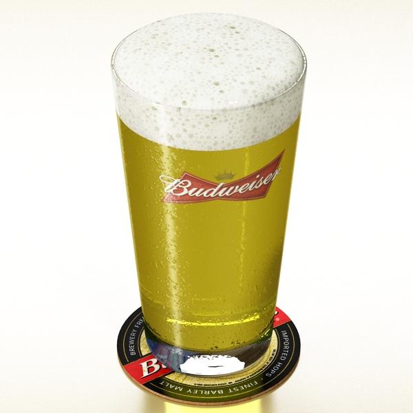 beer glass collection 3d model 3ds max fbx obj 142655