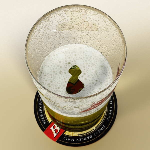 beer glass collection 3d model 3ds max fbx obj 142657