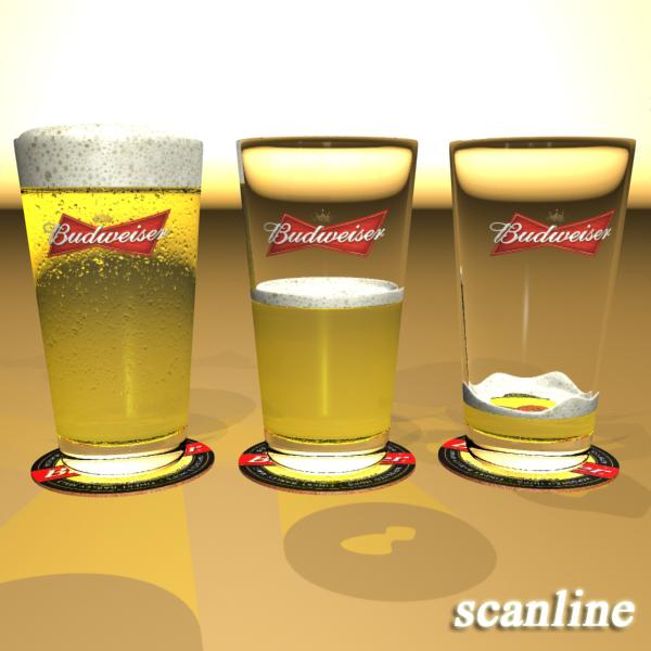 beer glass collection 3d model 3ds max fbx obj 142661