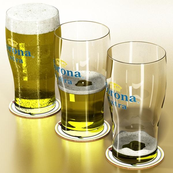 beer glass collection 3d model 3ds max fbx obj 142667