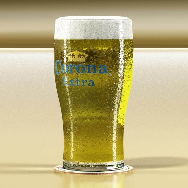 beer glass collection 3d model 3ds max fbx obj 142670