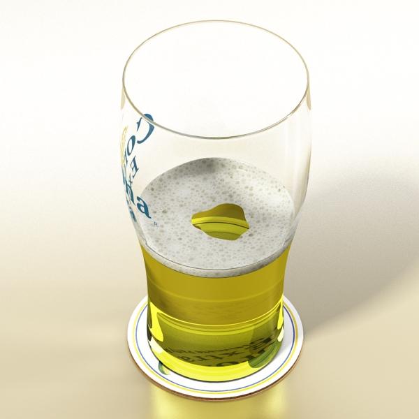 beer glass collection 3d model 3ds max fbx obj 142673
