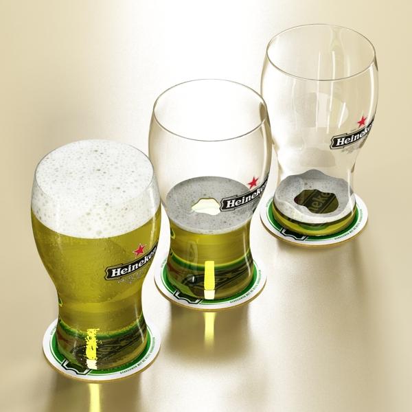 beer glass collection 3d model 3ds max fbx obj 142683