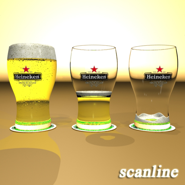 beer glass collection 3d model 3ds max fbx obj 142690