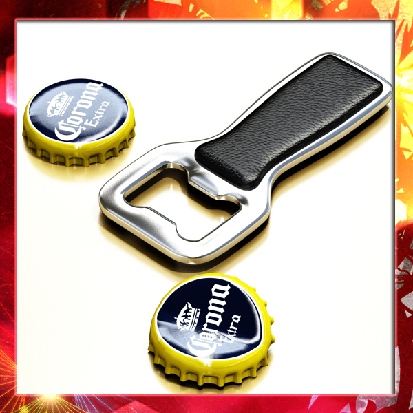 bottle opener and caps. 3d model 3ds max fbx obj 141529